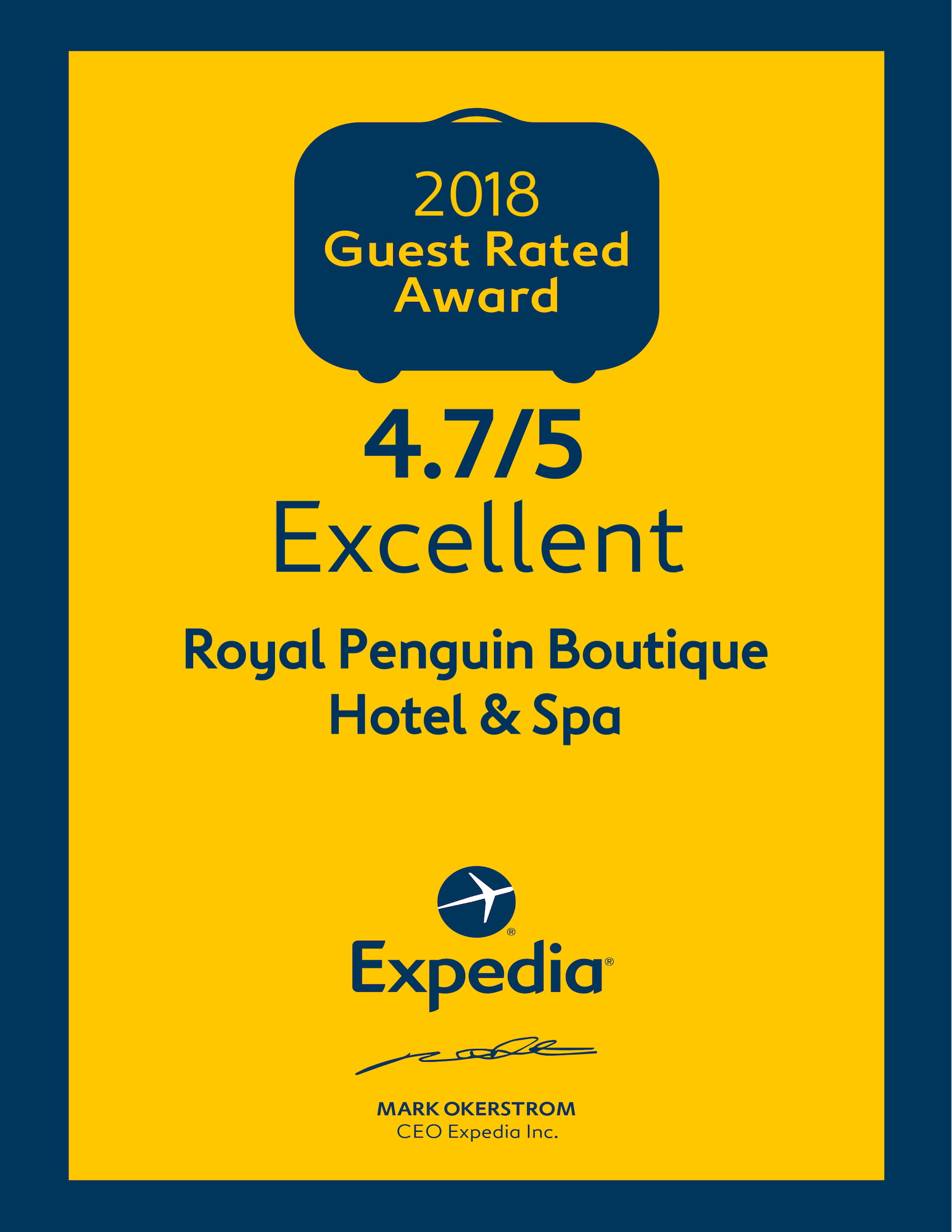 Expedia.com Guest Rated Award 2018
