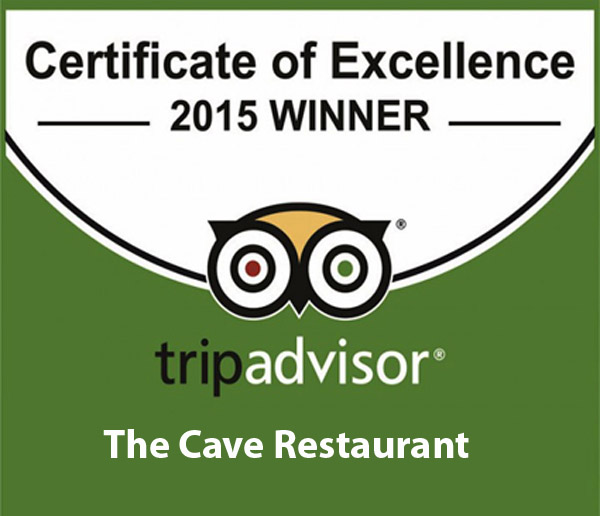 TridAdvisor Award 2015 for Cave Restaurant