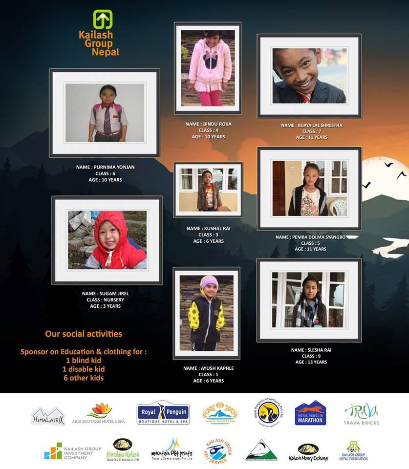 KGN Sponsor on education & clothing for disable kids